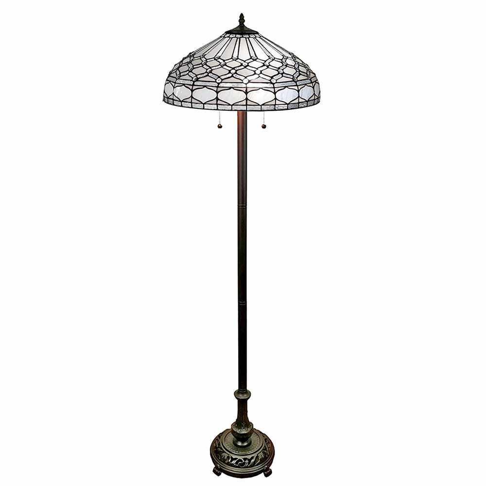 Royal White Tiffany Style Floor Lamp
