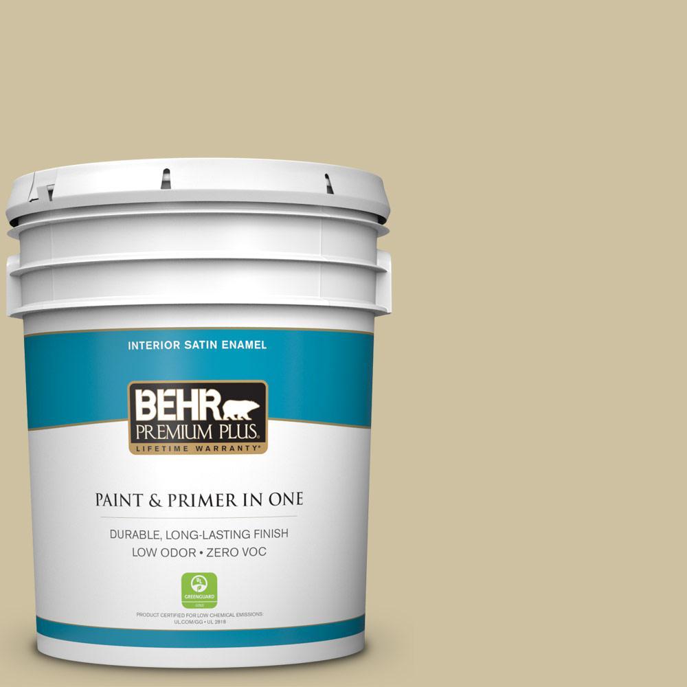 5-gal. #S330-3 Seasoned Salt Satin Enamel Interior Paint