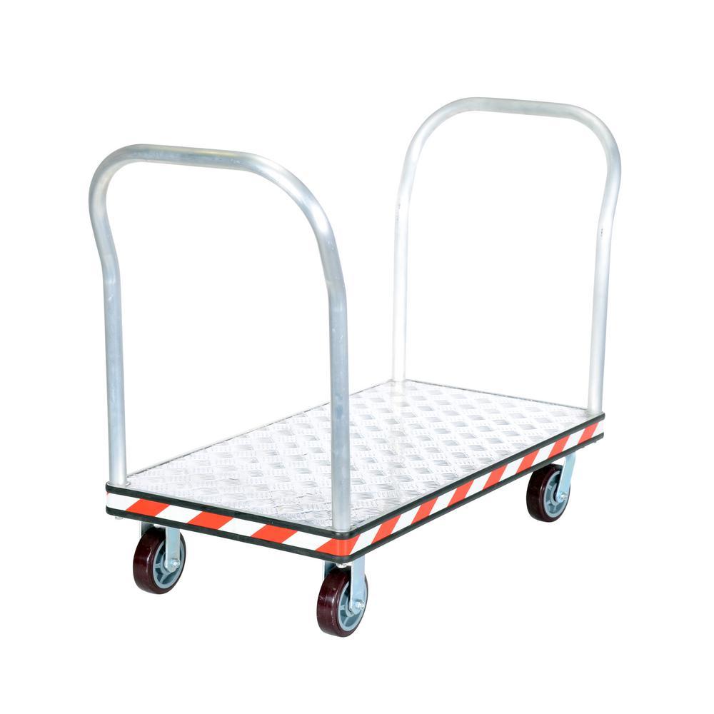 Vestil ASD-2460 Aluminum Sheet Deck Platform Truck 3600 lb 24 x 60 Silver Capacity