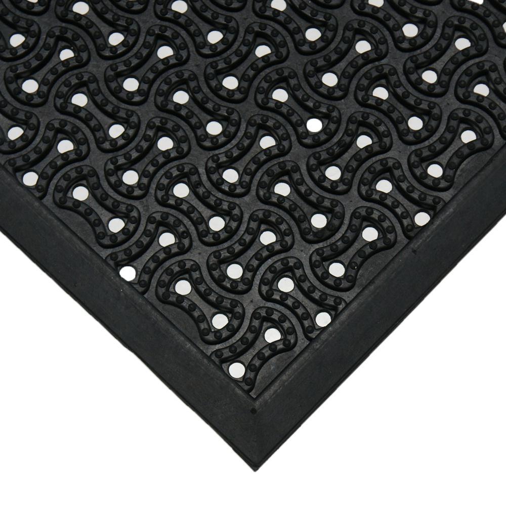 Dura-Scraper 24 in. x 36 in. Black Drainage Mat