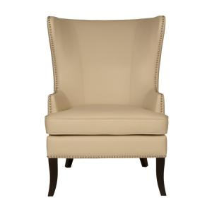 Ordinaire Home Decorators Collection Moore Ivory Bonded Leather Wing Back Accent Chair 1338800440    The Home Depot