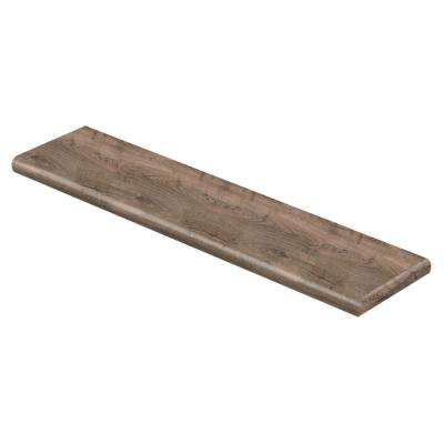 Vintage Pewter Oak 47 in. L x 12-1/8 in. Deep x 1-11/16 in. Height Laminate Right Return to Cover Stairs 1 in. Thick