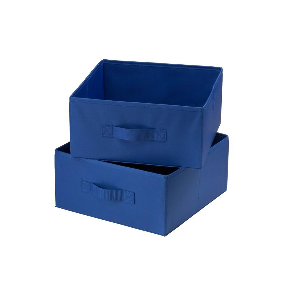 Navy Polyester Drawers for Hanging Organizer (2-Pack)