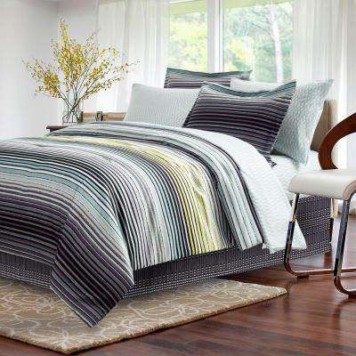 Strata Dark 8-Piece Charcoal King Bed-In-Bag Set