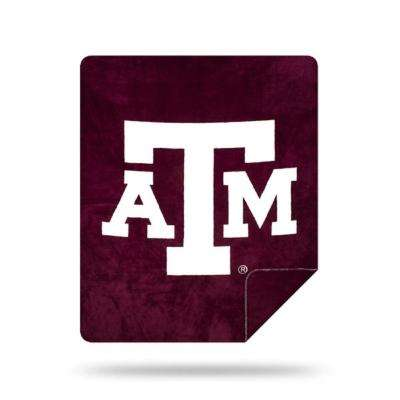 COL 361 Texas A and M Multi Color Acrylic Sliver Knit Throw