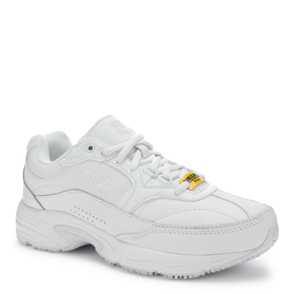 Fila Women's Memory Workshift Slip Resistant Athletic Shoes Soft Toe White Size 9(W)