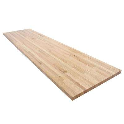 144 in. L x 25 in. D x 1.5 in. Thick Oak Butcher Block Countertop in Clear Satin