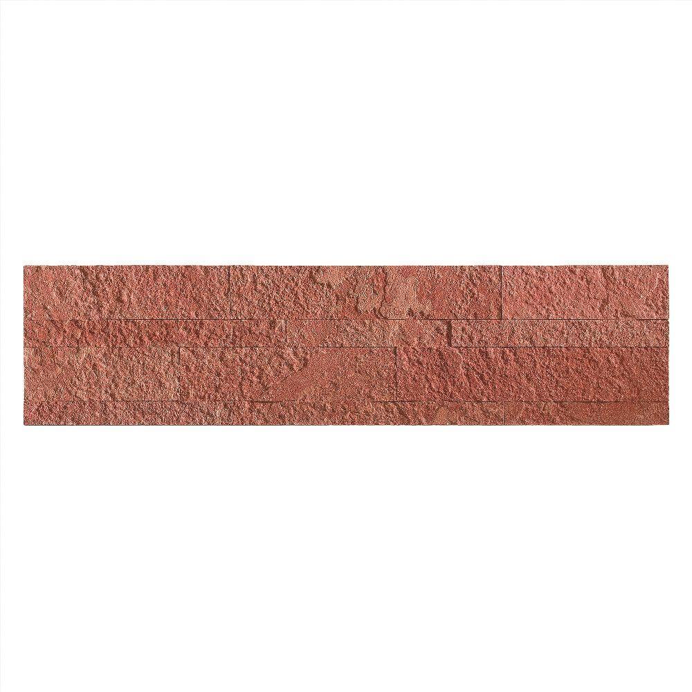 23.6 in. x 5.9 in. Autumn Sandstone Peel and Stick Stone Decorative Tile Backsplash