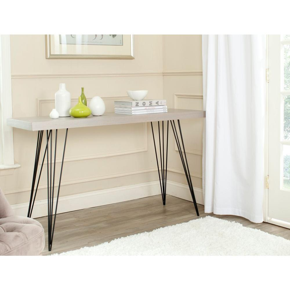 Safavieh Wolcott Gray And Black Console Table