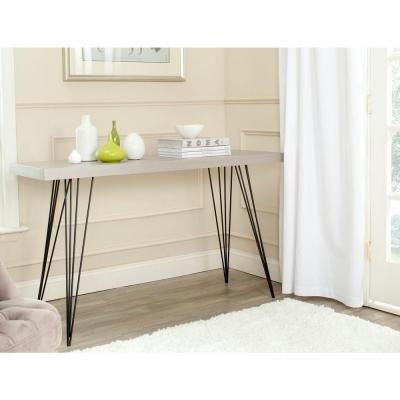 Wolcott Gray and Black Console Table
