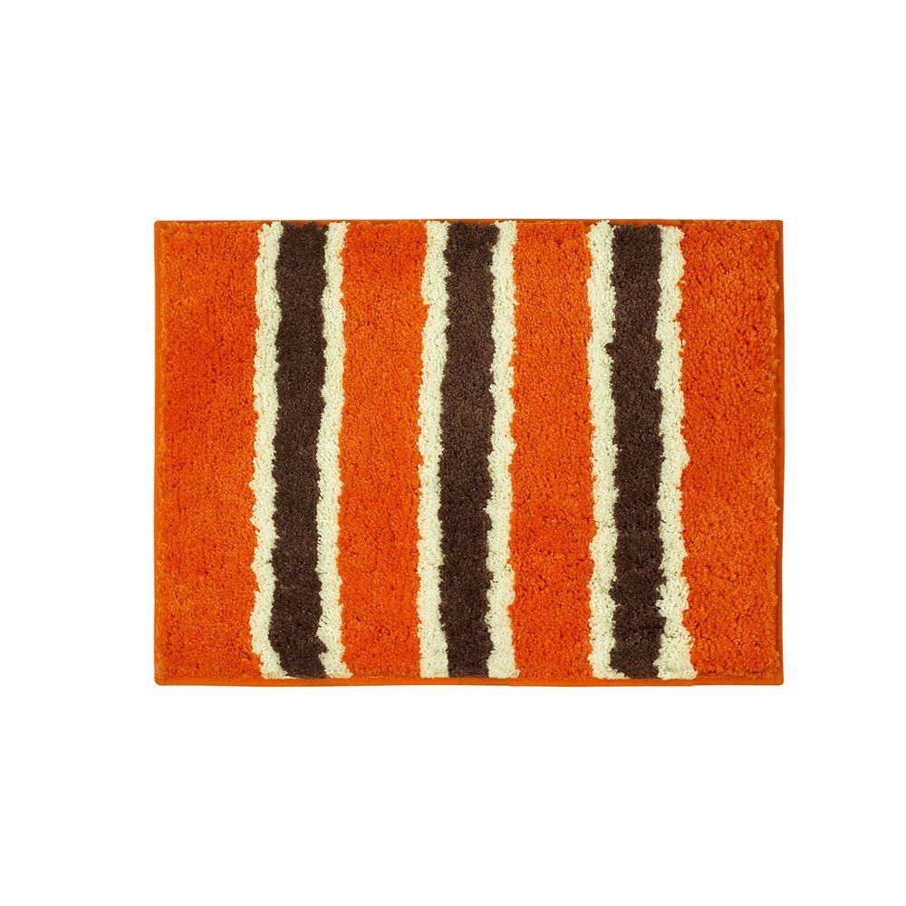 Ace Orange 16 in. x 24 in. Bath Rug