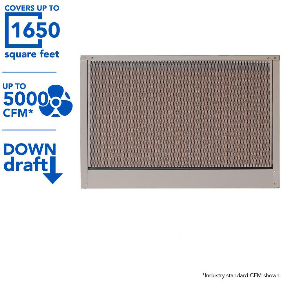 MasterCool 5000 CFM Down-Draft Roof 8 in. Media Evaporative Cooler for 1650 sq. ft. (Motor Not Included)