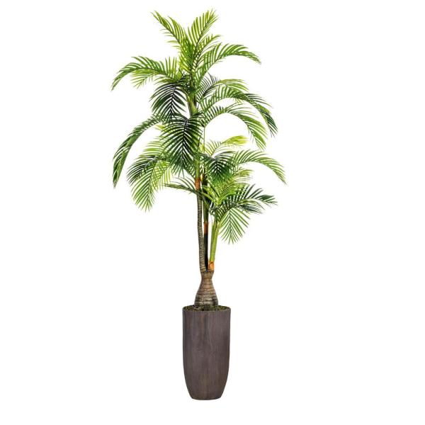 Laura Ashley 100.25 in. Tall Palm Tree, Artificial Indoor/ Outdoor Faux