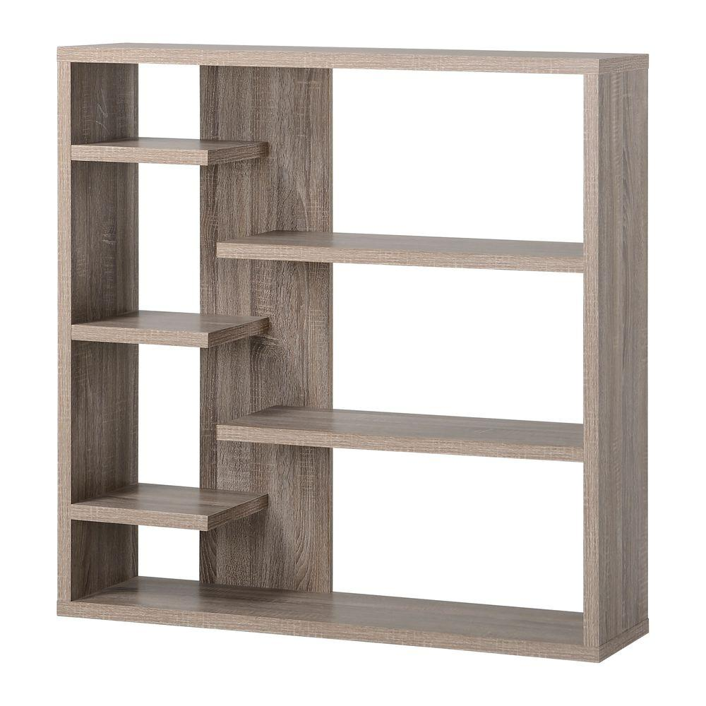 Reclaimed Wood Bookcase ~ Reclaimed wood open bookcase zh r the home depot
