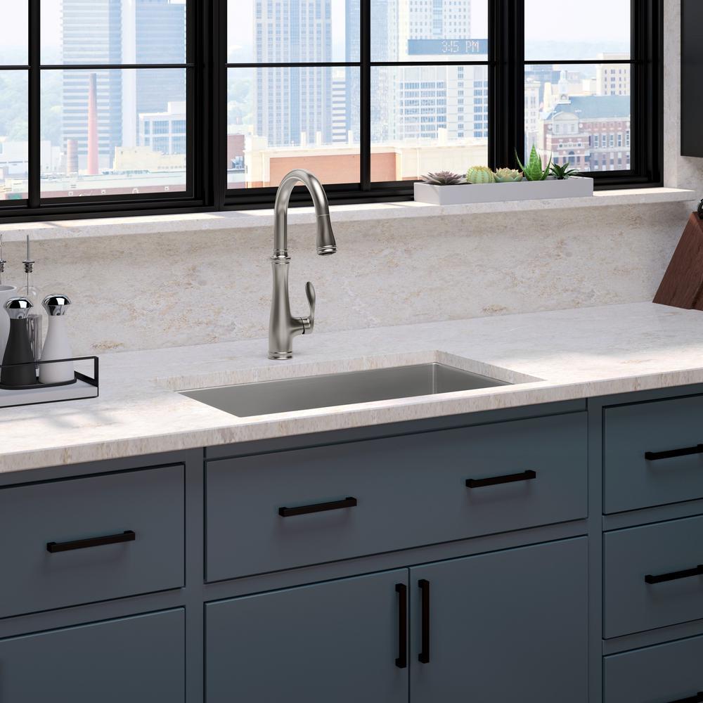Kohler strive undermount stainless steel 29 in single bowl kitchen sink with bellera faucet