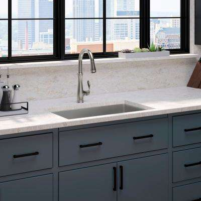 Strive Undermount Stainless Steel 29 In Single Bowl Kitchen Sink With Bellera Faucet