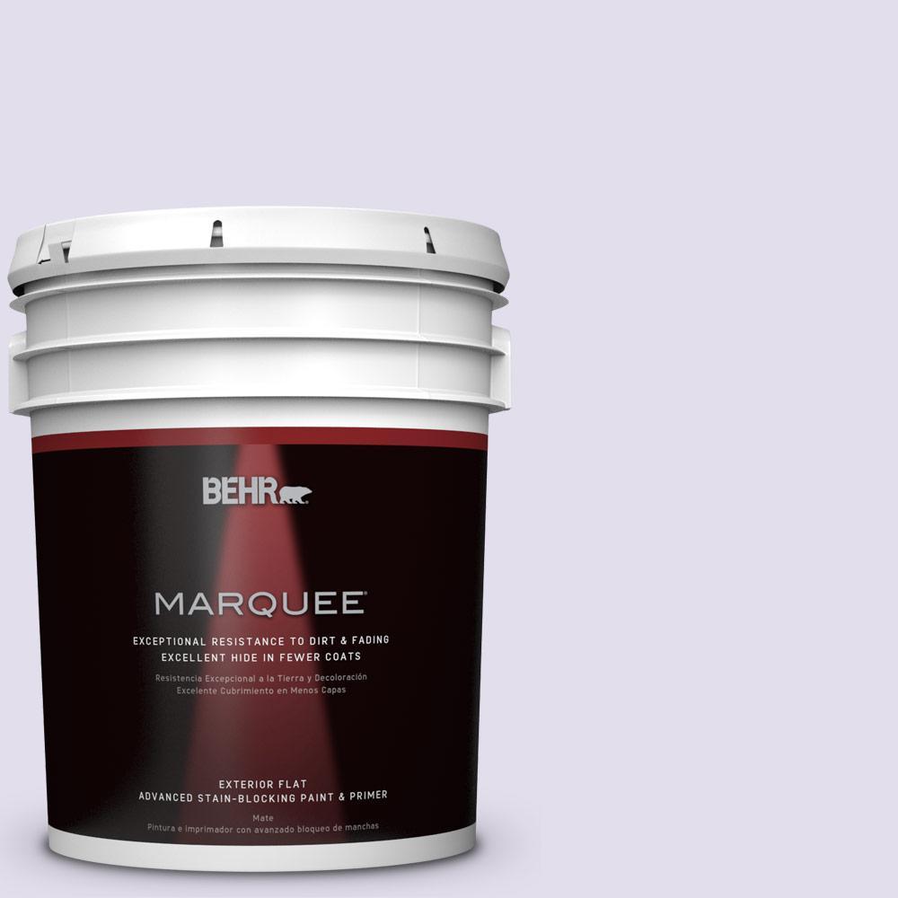 BEHR MARQUEE 5-gal. #M560-1 Sweet Bianca Flat Exterior Paint