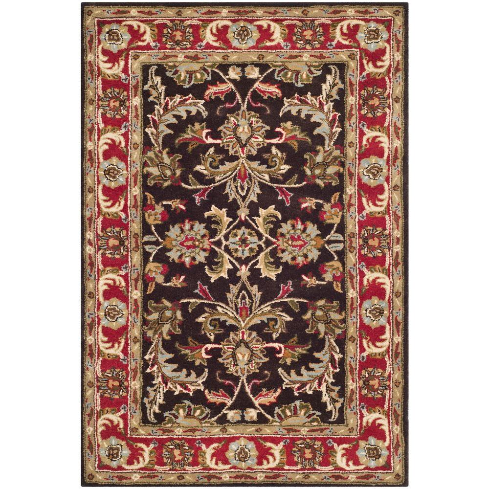 Heritage Chocolate Red 4 Ft X 6 Area Rug