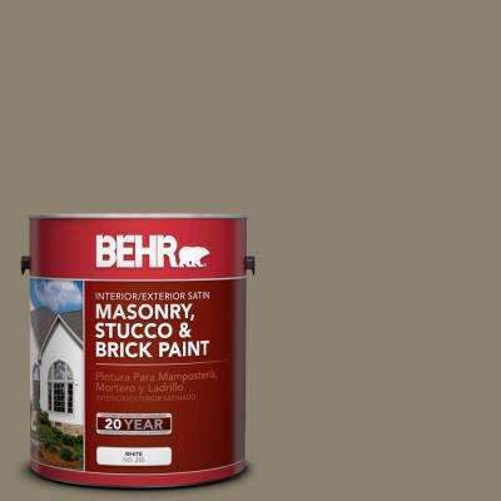 1-gal. #MS-53 Woodstock Green Satin Interior/Exterior Masonry, Stucco and Brick Paint
