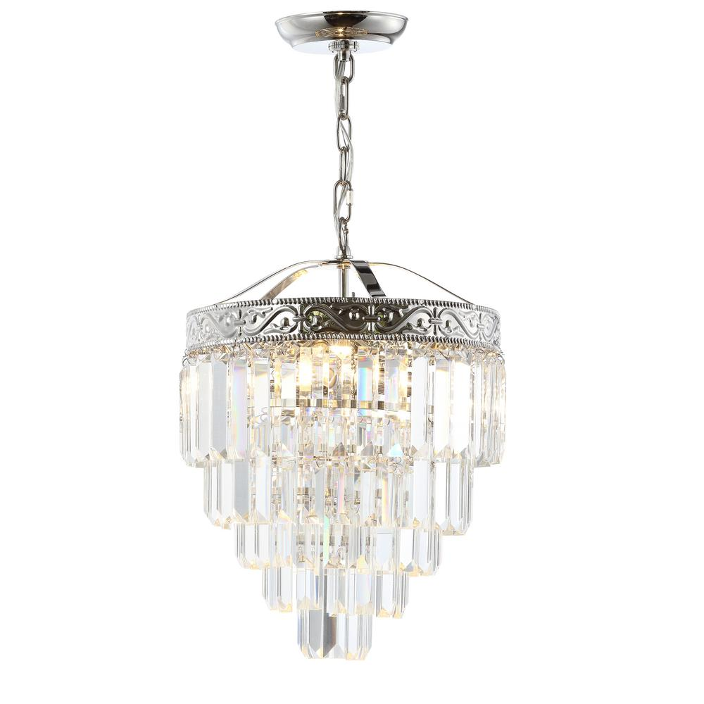 Jonathan y wyatt 12 in 2 light polished nickelclear crystal 2 light polished nickelclear crystal chandelier aloadofball Choice Image