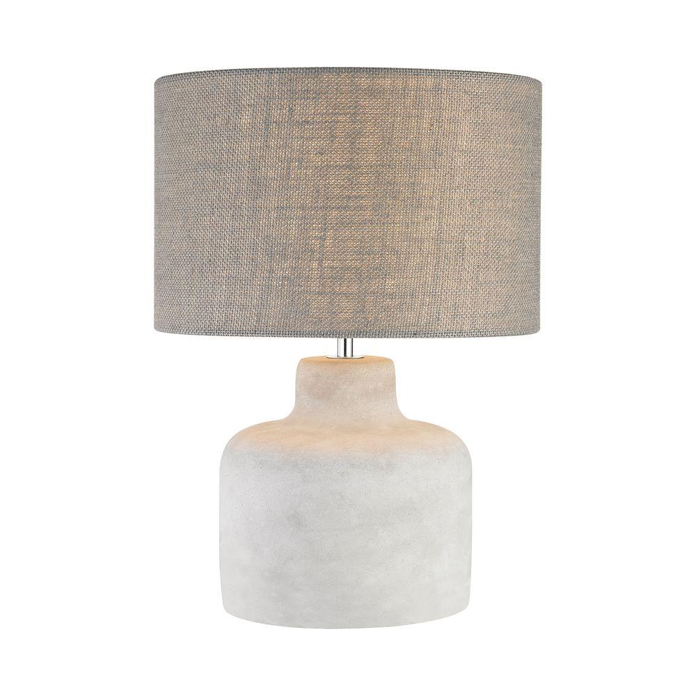 Titan Lighting Rockport 17 in. Polished Concrete Table Lamp