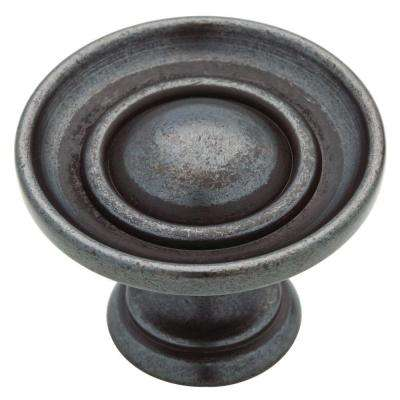 Saucer 1-1/2 in. (38mm) Soft Iron Round Cabinet Knob