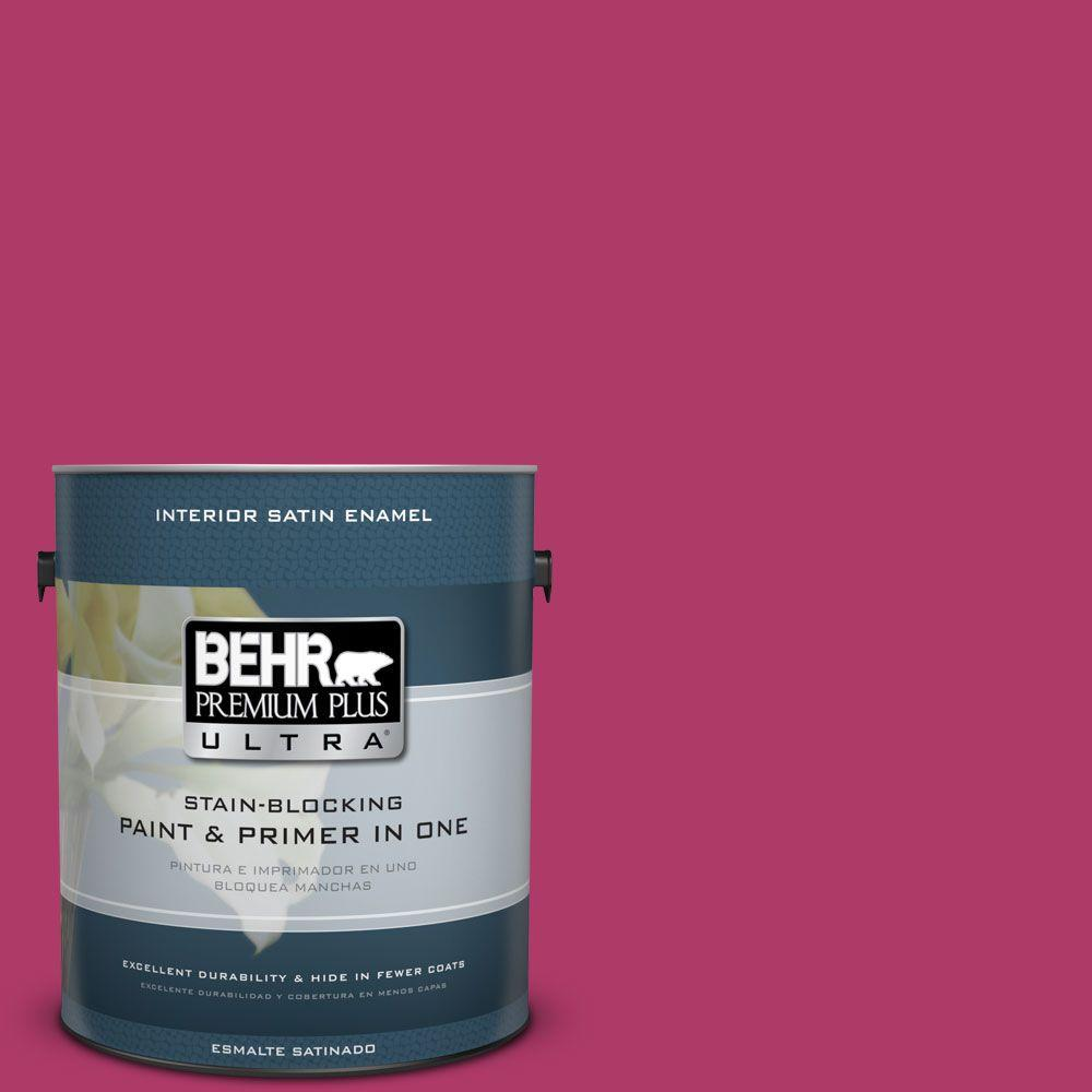 1 gal. #HDC-SM16-04 Bing Cherry Pie Satin Enamel Interior Paint