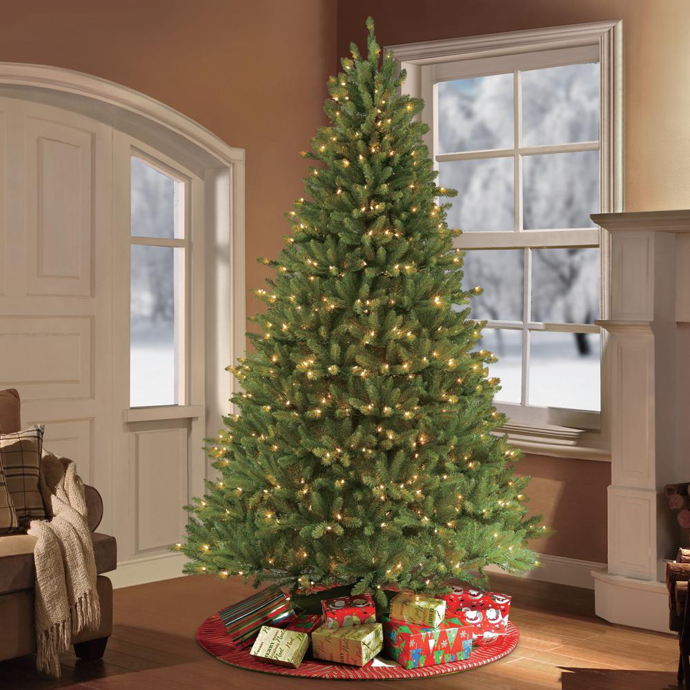 Fraser Fir Christmas Trees: 7 Ft. Pre-Lit Fraser Fir Artificial Christmas Tree With