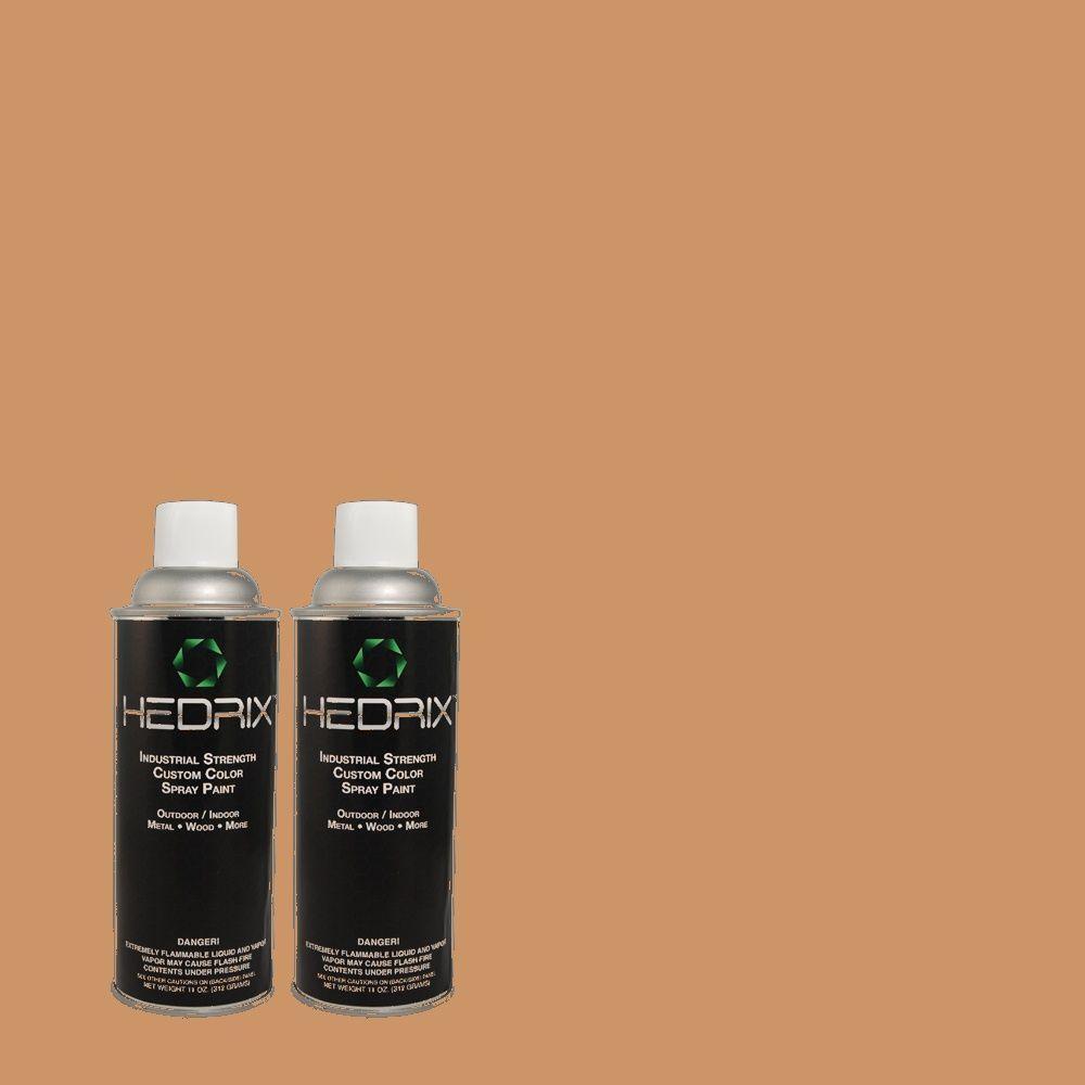 Hedrix 11 oz. Match of PIC-25 Butterscotch Candy Semi-Gloss Custom Spray Paint (2-Pack)