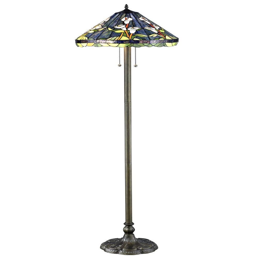 Serena D'italia Tiffany Calla Lilly 60 in. Bronze Floor Lamp