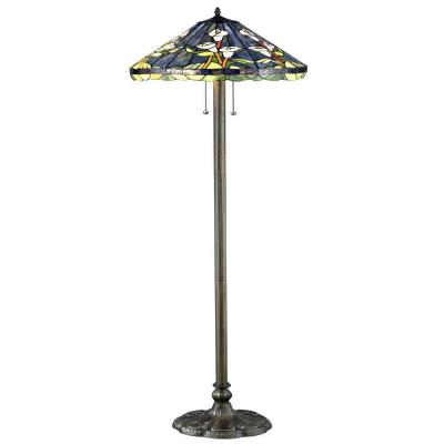 Tiffany Calla Lilly 60 in. Bronze Floor Lamp