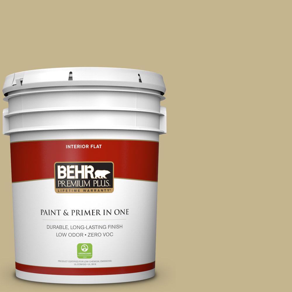 BEHR Premium Plus 5-gal. #BIC-27 Modish Moss Flat Interior Paint