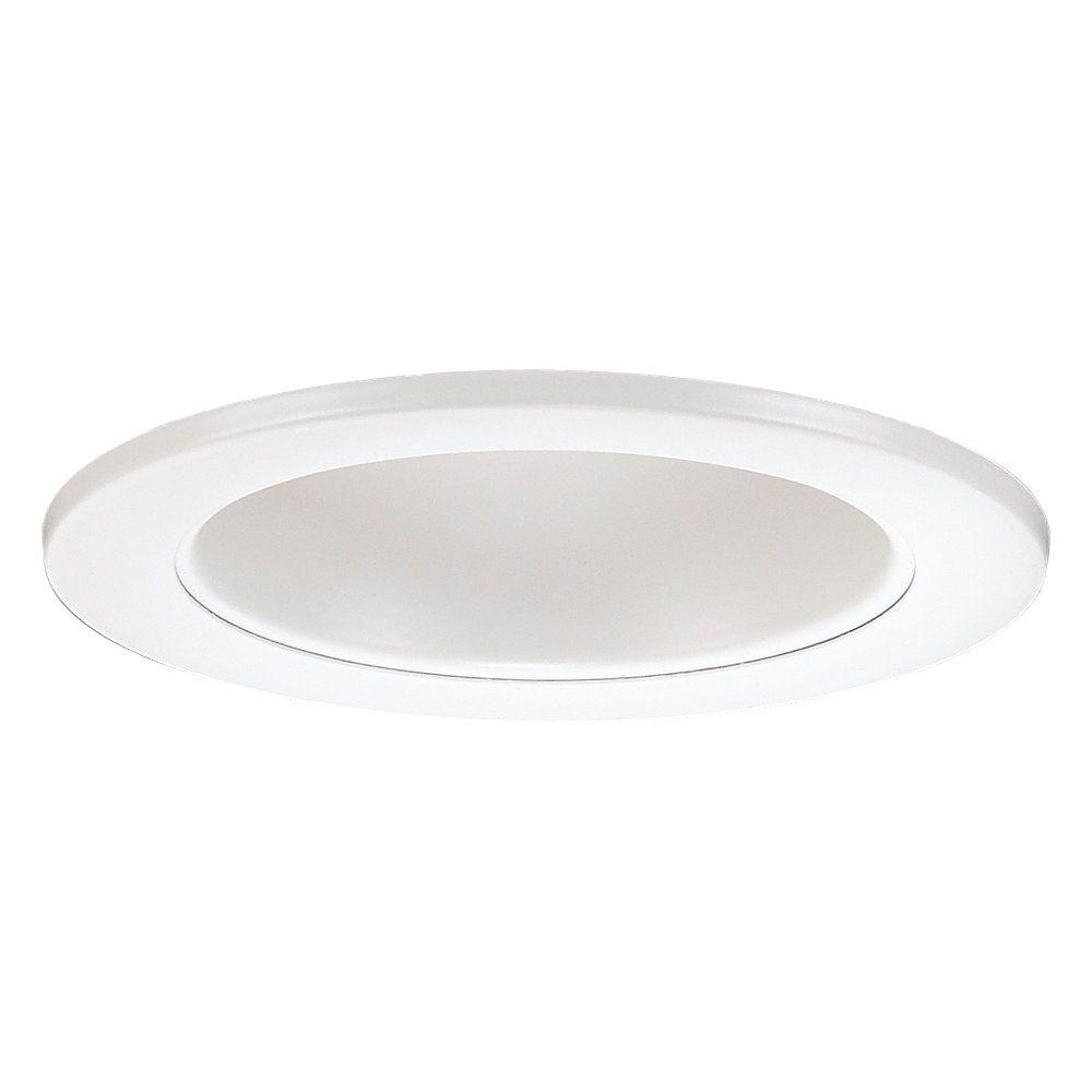 null 4 in. White Mini-Recessed Incandescent Multiplier Trim