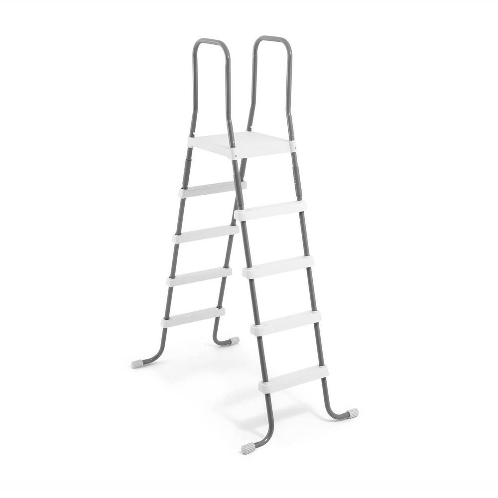 Intex Steel Frame Pool Ladder for 52 in. Wall Height Above Ground Swimming  Pool