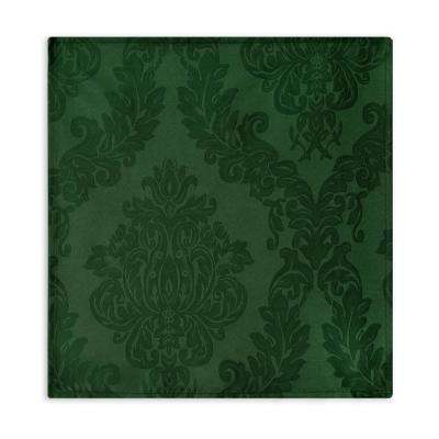 60 in. W x 84 in. L OvaL Hunter Elrene Barcelona Damask Fabric Tablecloth