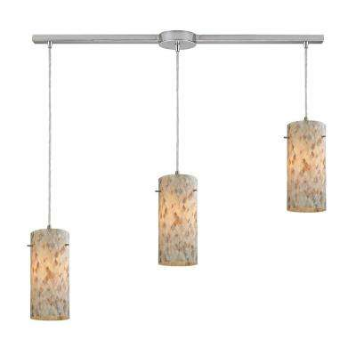 Capri 3-Light Satin Nickel Pendant