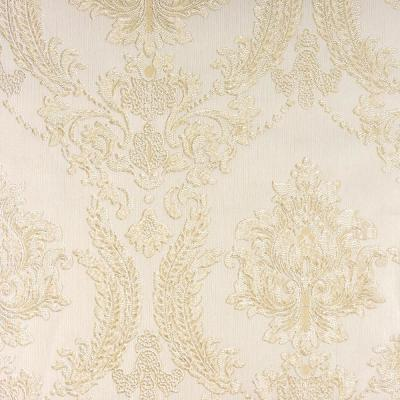 8 in. x 10 in. Maizey Neutral Damask Wallpaper Sample