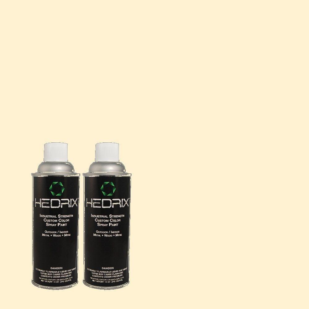 Hedrix 11 oz. Match of PPH-01 Baby Yellow Semi-Gloss Custom Spray Paint (2-Pack)