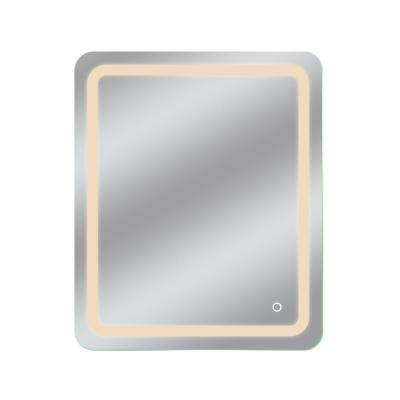 Egret 30 in. x 36 in. Tri-Color Wall Backlit Single LED Mirror with Touch On/Off Dimmer and Anti-Fog Function