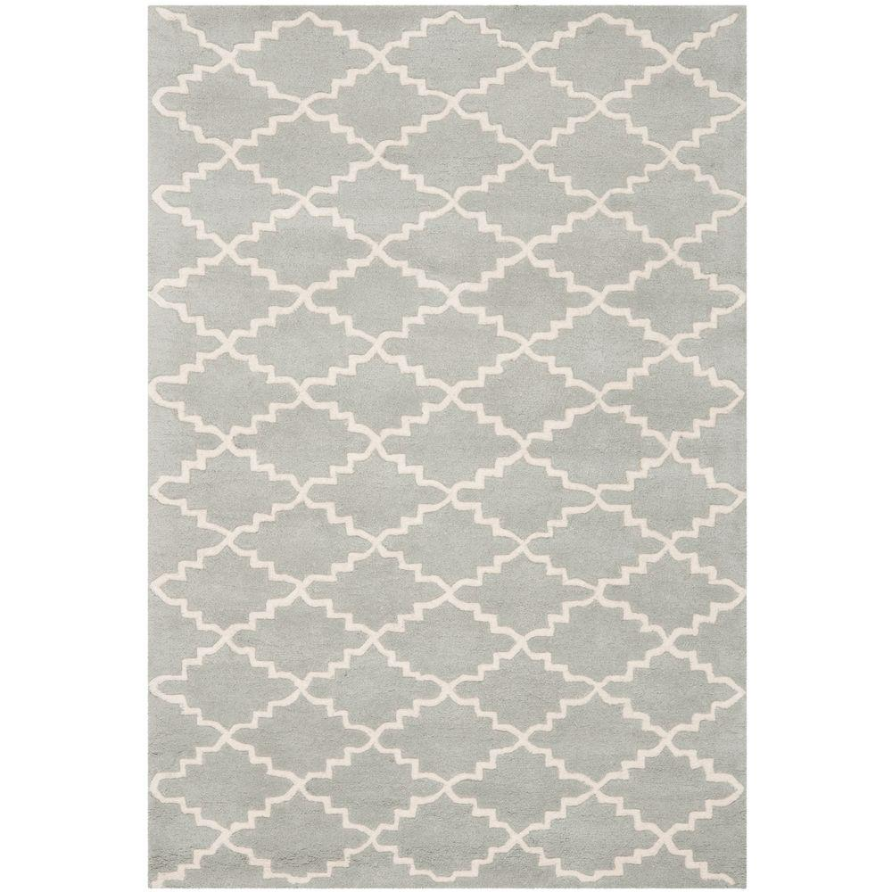 Safavieh Chatham Grey Ivory 3 Ft X 5 Ft Area Rug Cht721e 3 The
