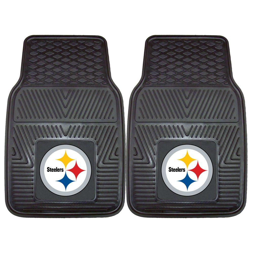 FANMATS Pittsburgh Steelers 18 In. X 27 In. 2 Piece Heavy Duty Vinyl