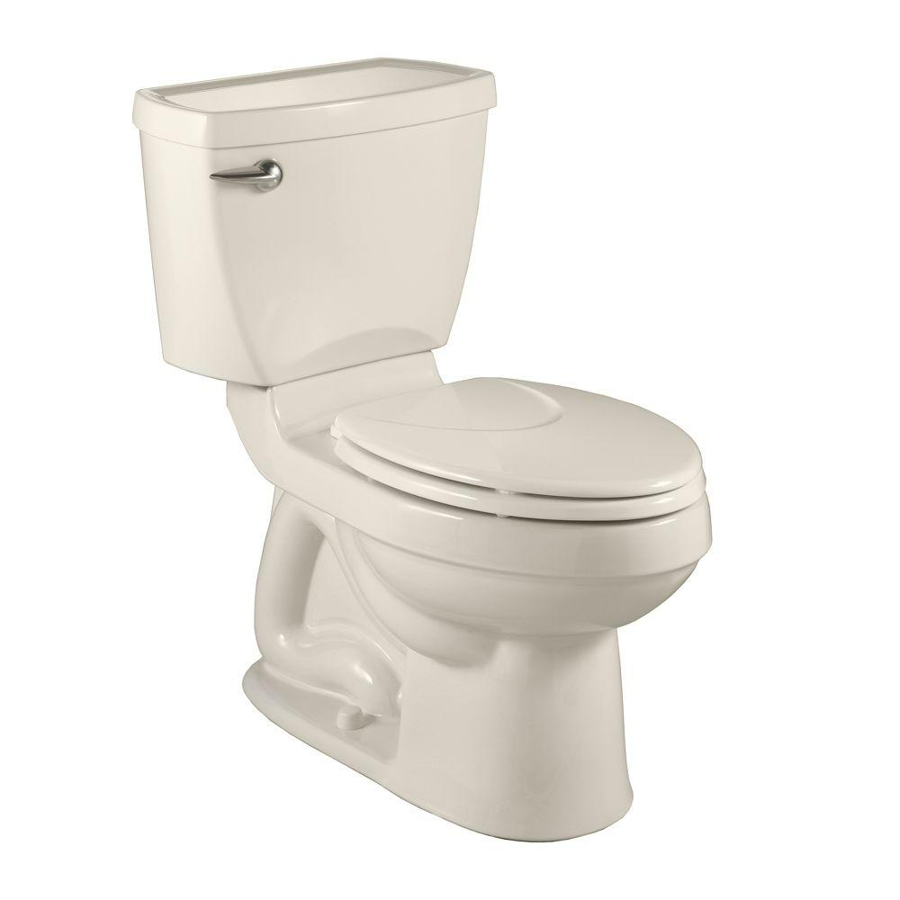 American Standard Champion 4 2-piece 1.6 GPF Right Height Elongated Toilet in Linen