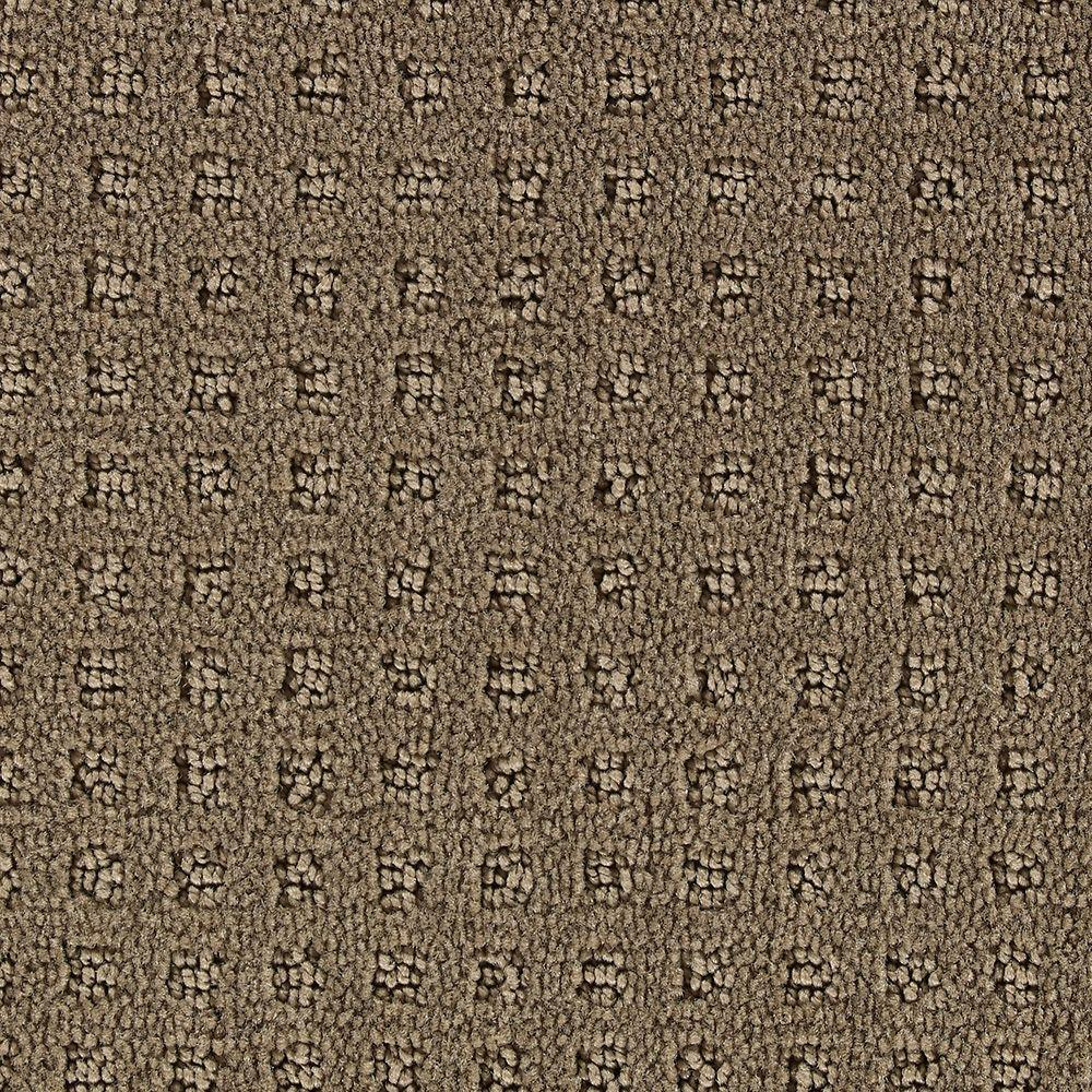 Martha Stewart Living Springwood Mushroom - 6 in. x 9 in. Take Home Carpet Sample