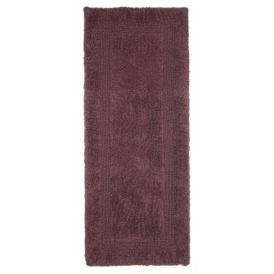 Chocolate 2 ft. x 5 ft. Cotton Reversible Extra Long Bath Rug Runner