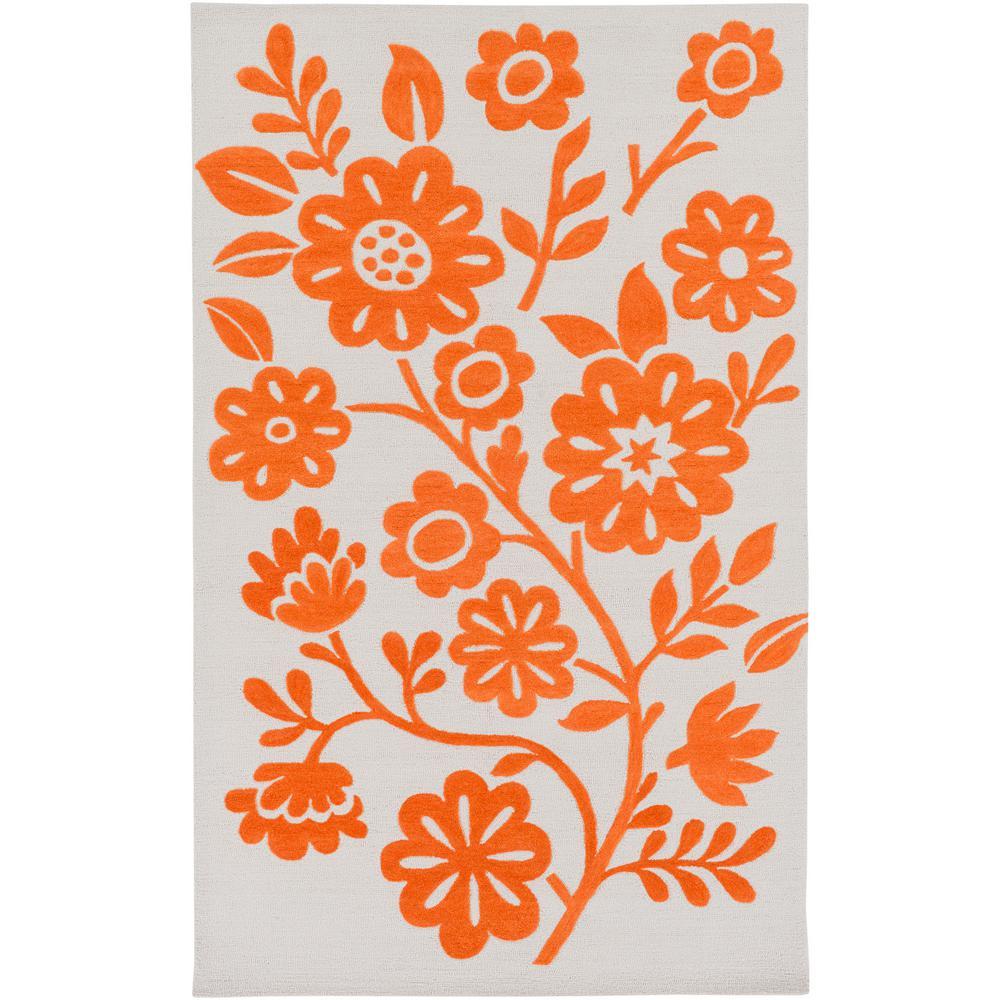 Paislee Bright Orange 5 ft. x 7 ft. 6 in. Area Rug