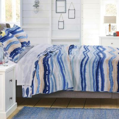 Crystal Cove Blue Quilt Set, 2-Piece Twin
