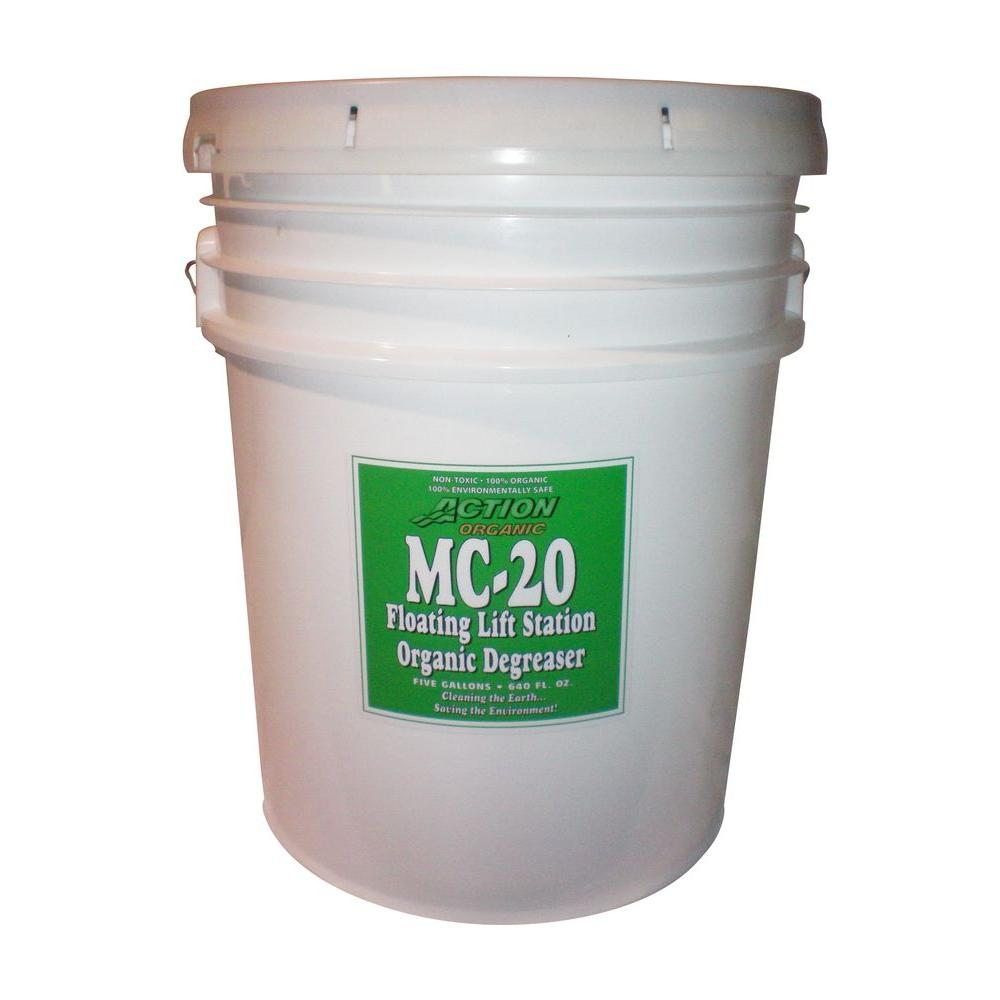 1-5 Gal. Pail Organic Lift Station/Septic Tank Degreaser Super Concentrate (at