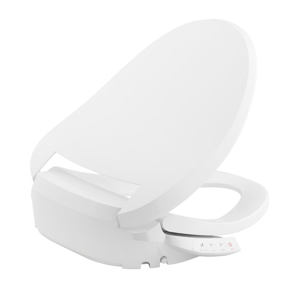 C3 050 Electric Bidet Seat for Elongated Toilets in White