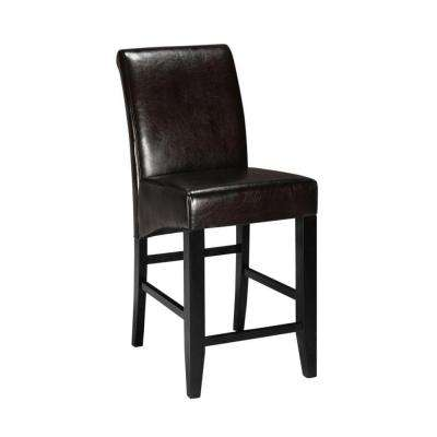 Espresso Cushioned Counter Stool with Back  sc 1 st  The Home Depot & Bar Stools - Kitchen u0026 Dining Room Furniture - The Home Depot islam-shia.org