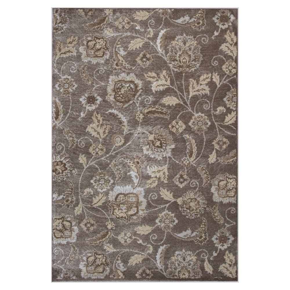 Donny Osmond Home Metallic Charisma Silver 3 ft. 3 in. x 4 ft. 11 in. Area Rug